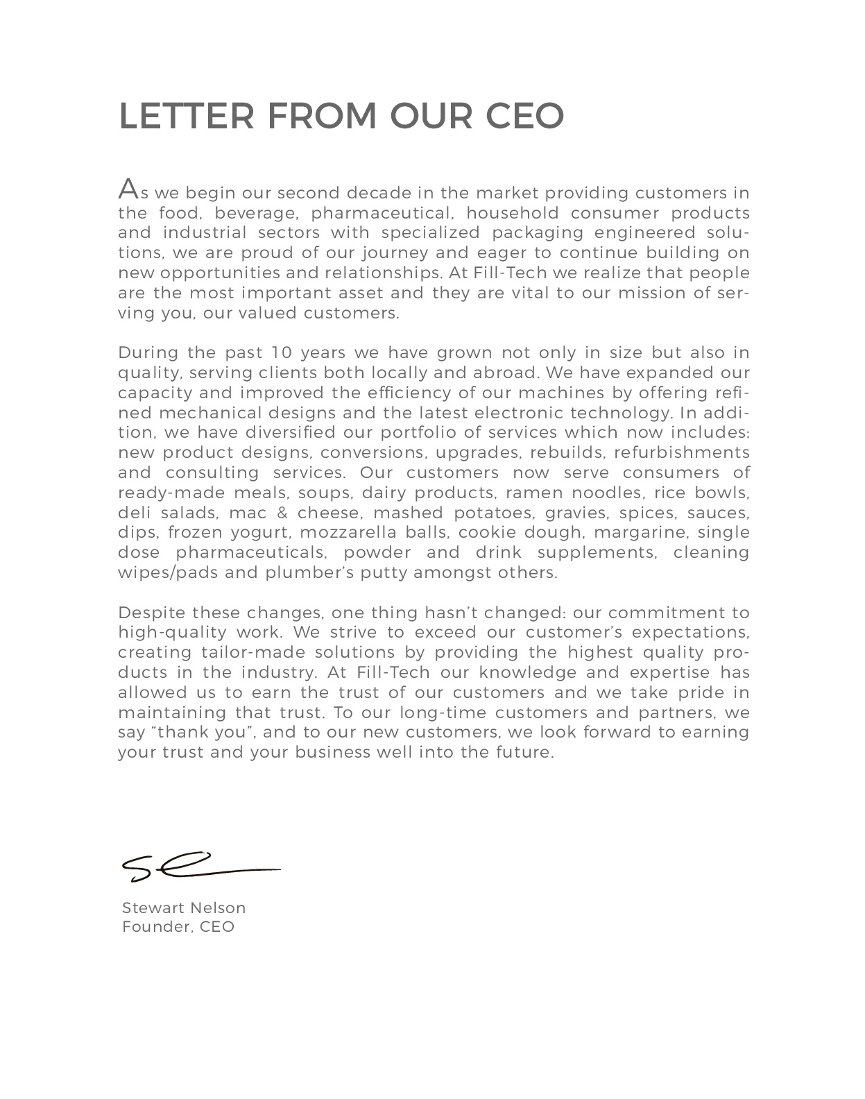 CEO-letter